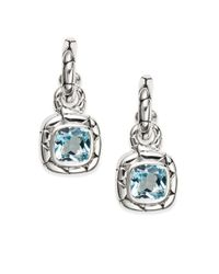 John Hardy | Metallic Kali Blue Topaz & Sterling Silver Drop Earrings | Lyst