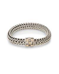 John Hardy | Metallic Dot Sterling Silver & 18k Yellow Gold Braid Bracelet | Lyst