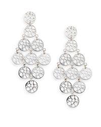 Ron Hami | Metallic Silver Lining Sterling Silver Lace Chandelier Earrings | Lyst