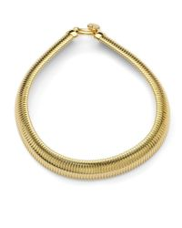 1ar - Metallic Ribbed Snake Collar Necklace - Lyst