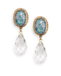 Stephen Dweck - Blue Opal Mosaic Doublet & Quartz Clip-On Drop Earrings - Lyst