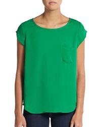 Joie | Green Rancher Silk Top | Lyst