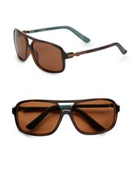 Sperry Top-Sider - Brown Georgetown Oversized Square Sunglasses for Men - Lyst
