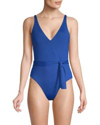 La Blanca - Blue One-piece Island Surplice Swimsuit - Lyst
