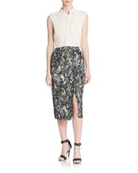 Jason Wu - Blue Beaded Pencil Skirt - Lyst
