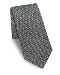 Saks Fifth Avenue - Blue Alternating Link Silk Tie for Men - Lyst