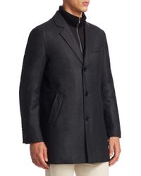 Saks Fifth Avenue - Multicolor Collection Notch Wool Topcoat for Men - Lyst
