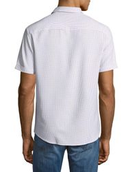 Vince Camuto - Blue Short-sleeve Button-down Shirt for Men - Lyst