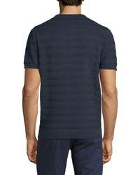 Ben Sherman - Blue Stripe Cotton Polo for Men - Lyst