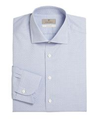 Canali - Blue Slim-fit Dress Shirt for Men - Lyst