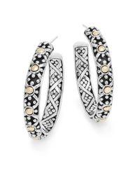 John Hardy | Metallic Jaisalmer Sterling Silver & 18 Yellow Gold Hoop Earrings | Lyst