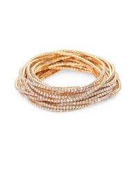 ABS By Allen Schwartz - Metallic Out Last Night Pavé Crystal Stretch Bracelets/set Of 20 - Lyst