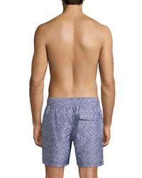 Slate & Stone - Blue Printed Swim Shorts for Men - Lyst