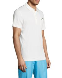 J.Lindeberg - White Mikael Cotton Blend Polo for Men - Lyst