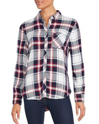 Beach Lunch Lounge - Blue Long Sleeve Plaid Shirt - Lyst