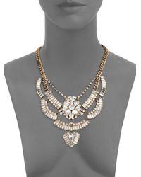 Saks Fifth Avenue - Metallic Crystal Baguette Bib Necklace - Lyst