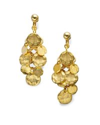 Kenneth Jay Lane | Metallic Coin Cluster Drop Earrings | Lyst