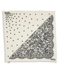 Moschino - White Mixed-print Silk Scarf - Lyst