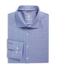Bugatchi - Blue Woven Cotton Dress Shirt for Men - Lyst