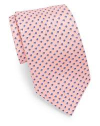 Brioni - Pink Mini Diamond Print Silk Tie for Men - Lyst