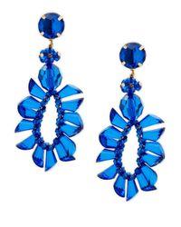 Natasha Couture - Blue Oversized Drop Earrings - Lyst