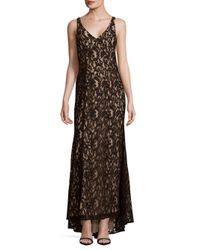 BCBGeneration - Black Knit Lace Evening Dress - Lyst