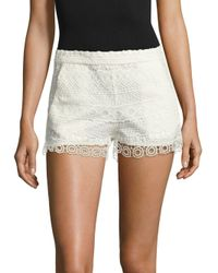 French Connection - Multicolor Castaway Stripe Lace Shorts - Lyst