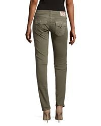 True Religion - Green Colored Skinny Jeans - Lyst