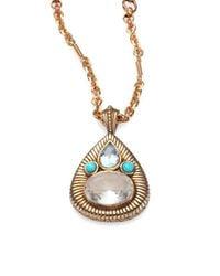 Stephen Dweck - Multicolor Topaz & Turquoise Pear Pendant Necklace - Lyst