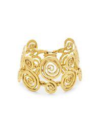 Oscar de la Renta - Metallic Looped Bracelet - Lyst