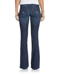 Hudson - Blue Mid-rise Flared Bootcut Jeans - Lyst