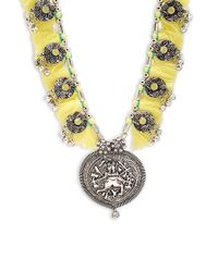 Cara - Metallic Al Medallion Necklace - Lyst