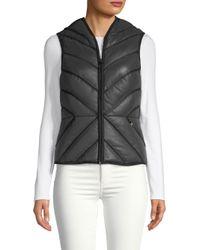 BLANC NOIR - Black Mesh Inset Reflective Puffer Vest - Lyst