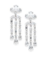 Adriana Orsini - Metallic Triple Teardrop Chandelier Earrings - Lyst