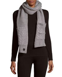 Vince Camuto - Black Cable-knit Pocket Scarf - Lyst