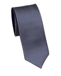Saks Fifth Avenue - Blue Mini Links Silk Tie for Men - Lyst