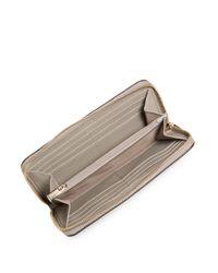 Furla - Natural Zip-around Leather Wallet - Lyst