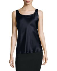 Lafayette 148 New York - Black Reversible Silk Tank Top - Lyst