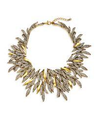 Saks Fifth Avenue - Metallic Crystal Leaf Statement Necklace - Lyst