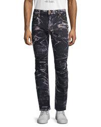 Robin's Jean Gray Motard Moto Jeans for men