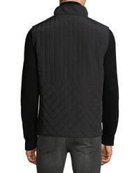 Vince Camuto - Black Quilted Utility Vest for Men - Lyst