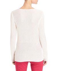 ESCADA - Natural Lightweight Ribbed Pullover - Lyst