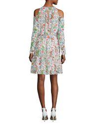 Julia Jordan - White Floral Cold-shoulder Dress - Lyst