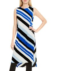 Vince Camuto - Blue Sleeveless Nautical Bands Tunic - Lyst