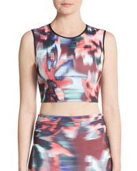 Clover Canyon - Multicolor Floral Ikat Cropped Top - Lyst