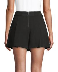 Alice + Olivia - Black Olette Pleated Shorts - Lyst