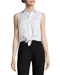 Mother - White Knot Sleeveless Top - Lyst