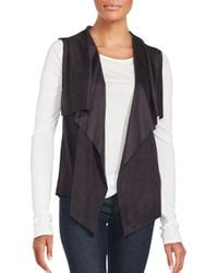 1.STATE - Black Open Front Vest - Lyst