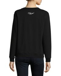 Karl Lagerfeld - Black Long Sleeve Sweatshirt - Lyst