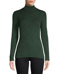 Diane von Furstenberg - Green Tess Metallic Sweater - Lyst